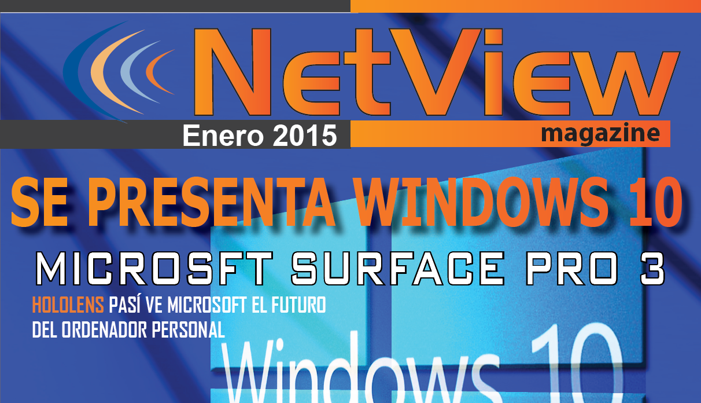 """Portada revista netview """"Se Presenta Windows 10"""""""