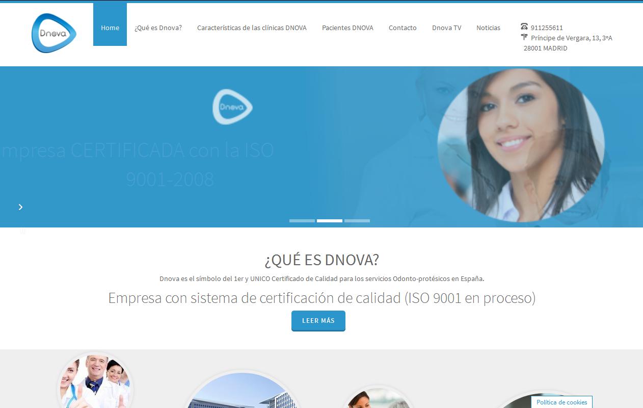 Captura de Página Web de Cliente Dnova