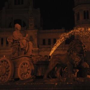 estatua cibeles sin luz