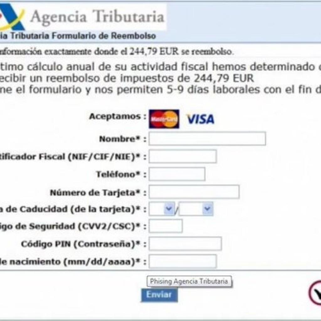 Imagen web agencia tributaria