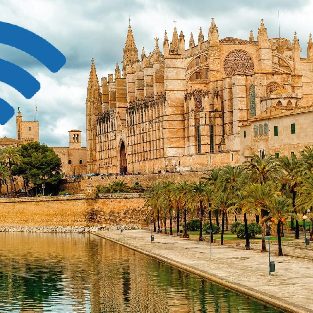 Foto de Mallorca con icono de Wifi