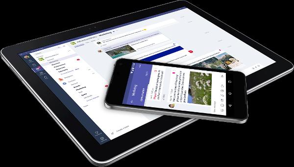 Microsoft Teams en tablet y móvil
