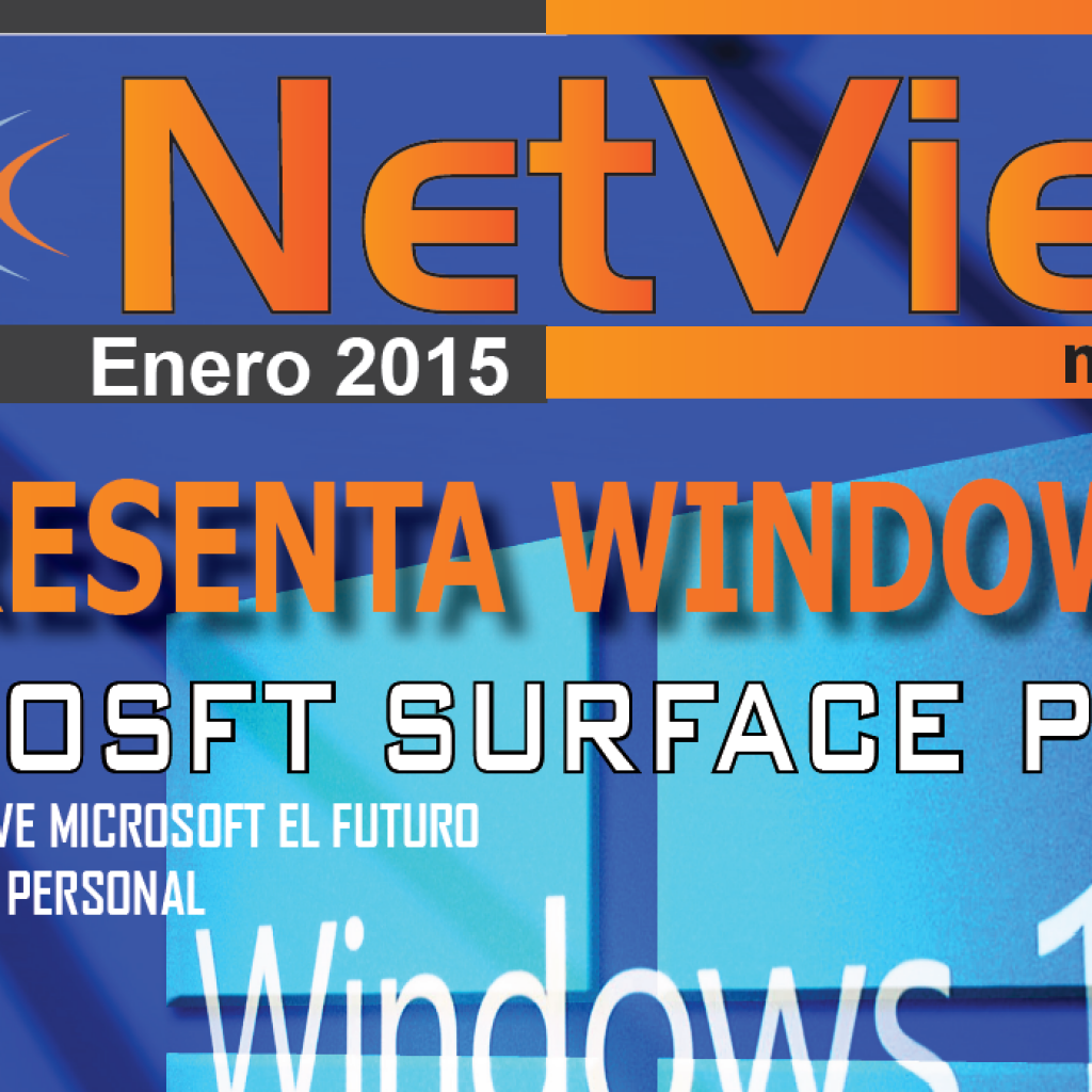 "Portada revista netview ""Se Presenta Windows 10"""