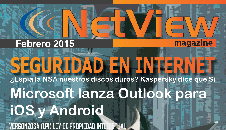 """Portada revista netview """"Seguridad en Internet"""""""