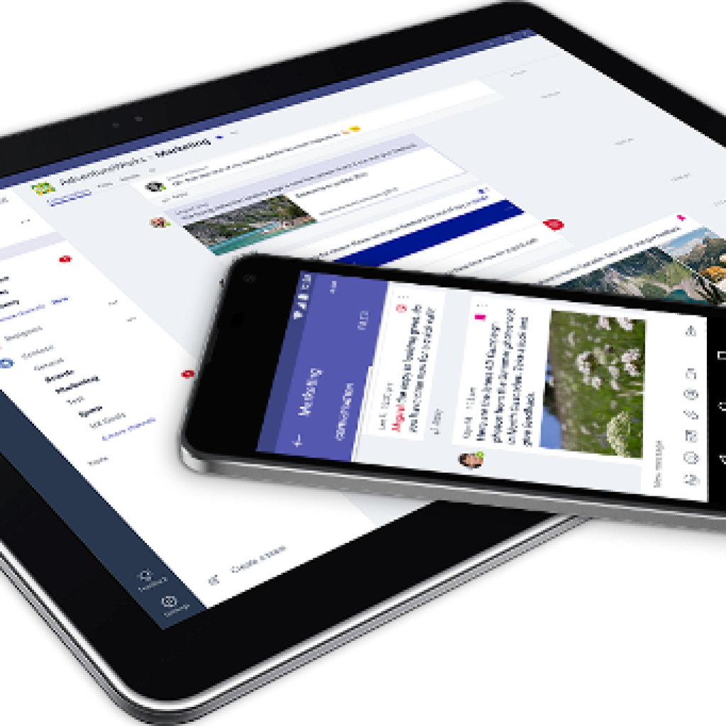 Microsoft Teams en tablet y móvil